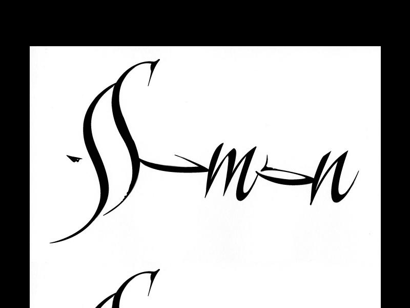 Simon Vieille Calligraphie Manny Ling