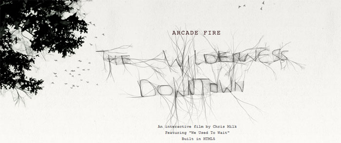 Arcade Fire, un clip vidéo interactif avec HTML5